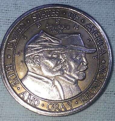 Blue and gray reunion1936 commemorative coin, Half dollar press copper not real