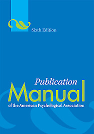 PDF Publication Manual of the American Psychological Association 6th Ed