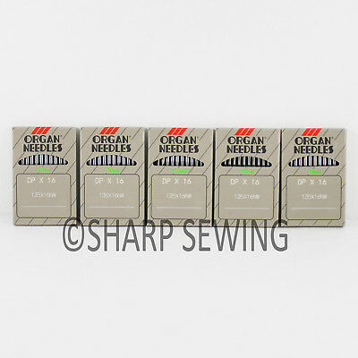 50 ORGAN 135X8NW #18 LEATHER POINT INDUSTRIAL SEWING MACHINE NEEDLES DPX8 134LR