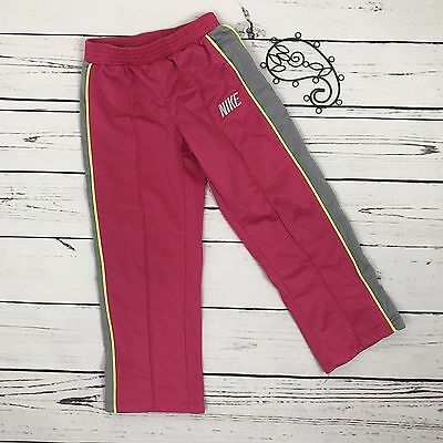 Nike Girls Size 4 Athletic Pants Pink Gray