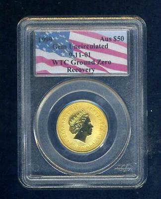 1999 Australian 1/2oz Gold Nugget Coin PCGS Recovered from WTC Ground Zero