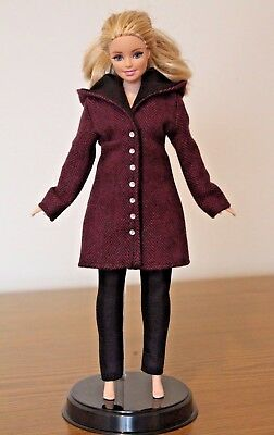 Clothes for Curvy Barbie Doll. Hooded Coat and Leggings for Dolls.