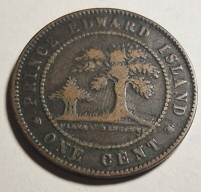 1871 Prince Edward Island One 1 Large Cent