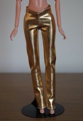 Clothes for Barbie Doll. Gold Metallic leggings for Dolls.
