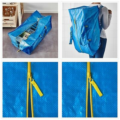 Ikea Frakta Storage Bag,Extra Large - Blue -- 4 PACK