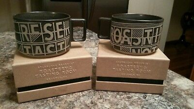 Starbucks Reserve Roastery Tasting Room Mug Flip Flap Board 10oz  Set of 2 NWT
