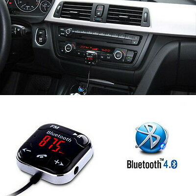 LCD Magnet Car Kit MP3 Handsfree SD Wireless Bluetooth AUX FM Transmitter USB OZ