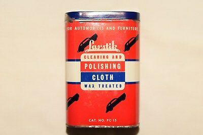 Vintage Las-Stik Polishing Cloth for Cars in Oil Type Can PC-15
