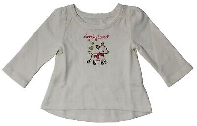 Jumping Beans Baby Girl Size 3M Deerly Loved Graphic Thermal Tunic Shirt L/S