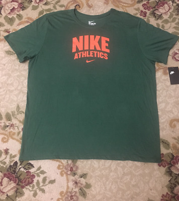 fb579f33 NWT Nike Men's T-Shirt Athletic Cut Graphic Tee Green Orange Size M-4XL