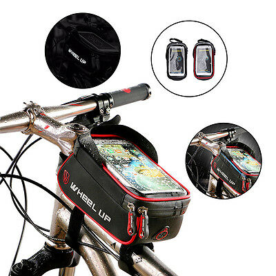 WHEEL UP Cycling Bike Bicycle Frame Holder Pannier Case Bag Pouch For Phone GPS