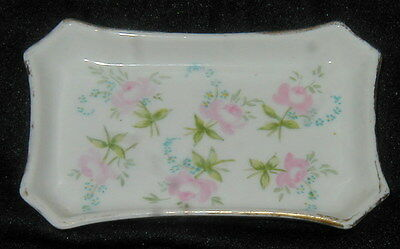 Old Guerin French Limoges Porcelain Hand Painted Pin Dish, Vanity Item, Flowers