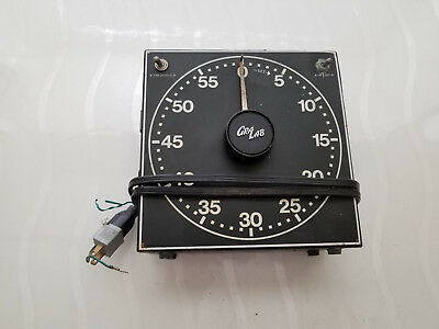 GraLab Electric Timer Model 168 Photographic Darkroom Luminous Dial Works