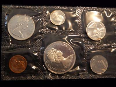 1965 Canada PL set 1.1 ounce of silver  NO reserve! (BK1)