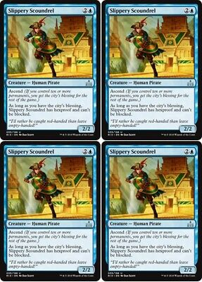 4x FORERUNNER OF THE COALITION Rivals of Ixalan MTG Black Creature — Pirate Unc