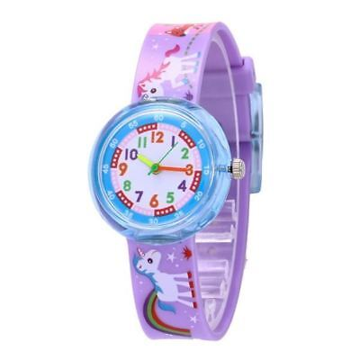 GIRL'S WATCH Cute Unicorn Jelly Watch Silicon Band Unicorn Cartoon Watch