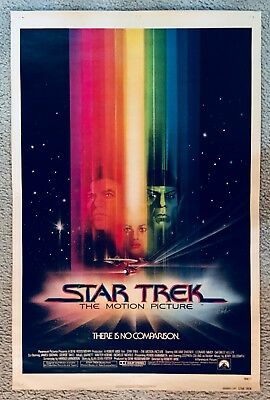 "STAR TREK: THE MOTION PICTURE, Movie Poster, 24 x 36"", NOT Folded, excellent"