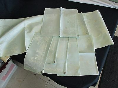 Linens COTTON & RAYON MADE IN JAPAN TOYOBO Tablecloth 6 Napkins Light Green NEW