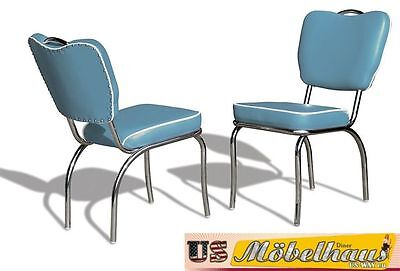 CO-26 Blue Bel Air Furniture 2 Chairs Diner Kitchen in the Style of 50 Piece