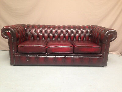 Canape Chesterfield Bordeaux 3 Places
