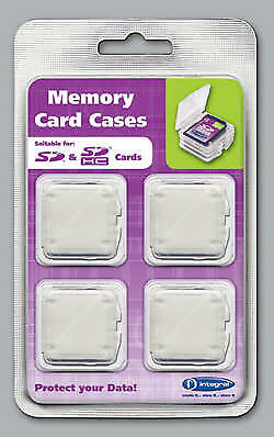 Integral SD SDHC Camera Memory Card Replacement Protective Storage Cases 4 Pack