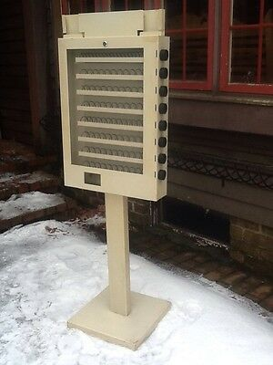 "Vintage 8 Row 59"" Tall  Heavy Metal Snack Vending Machine - Very Good"