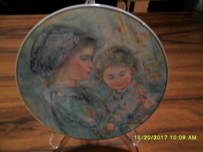 Complete set of 6 Edna Hibel plates - Mother and Child series