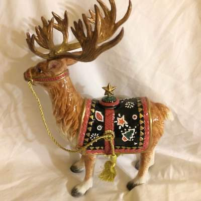 Fitz and Floyd Lodge Reindeer!  Beautiful. Christmas sale!