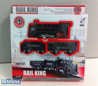 Railway Set, Train Set (Battery), Rail King Light Sound, Toy