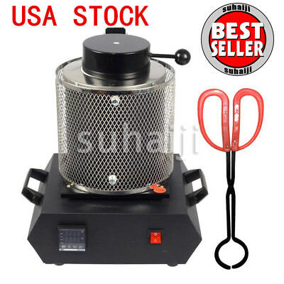 Automatic Digital Melting Furnace 2KG for Melt Scrap Silver & Gold MF-2000 USA