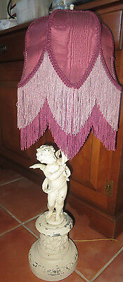 Vintage French Shabby Chic Cherubs Angeles Lamps Neoclassical Decor Cast Metal