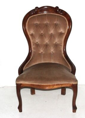 Antique Victorian Mahogany Spoon Back Nursing Chair - FREE Shipping [PL-4212 ]
