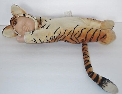ANNE GEDDES 16 Inches Tiger Sleeping Baby Beanie Doll Toy