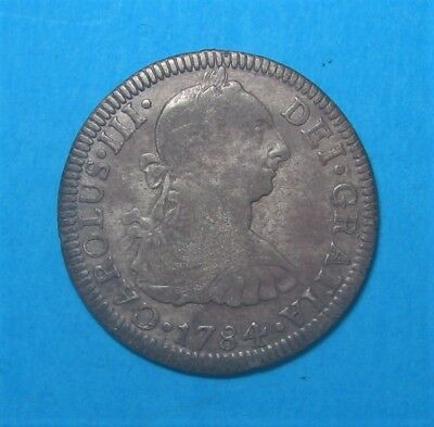 1784 Carolus III Silver 2 Reales * Mexico Mint