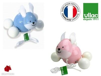Vilac Wooden pull toy Rabbit Ecological, green birth gift Girl, Boy