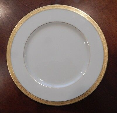 """Lenox """"lowell"""" P-67 Pattern Dinner Plate (S) 10 5/8"""" Made In Usa Gold Backstamp"""