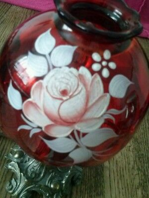 FENTON ART GLASS lamp ruby red free shipping
