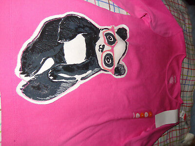 NWT Gymboree Panda Academy Applique Hot Pink Glasses Top size 7 PANDA