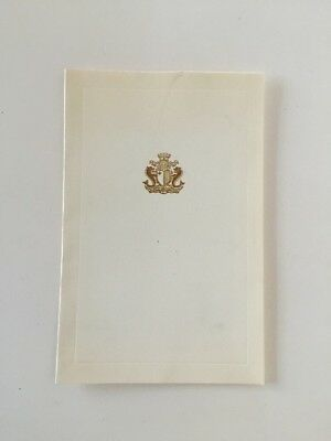 Vintage Christmas card from Prime Minister of Malta