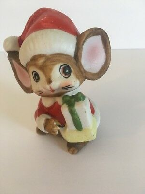 Homco  5405 Christmas Mouse Presents Santa's Helper Vtg Replacement Figurine