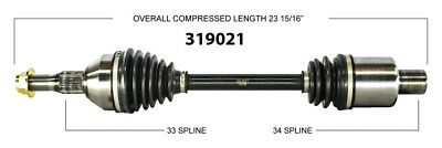 CV Axle Shaft-New Front Right WorldParts 319021