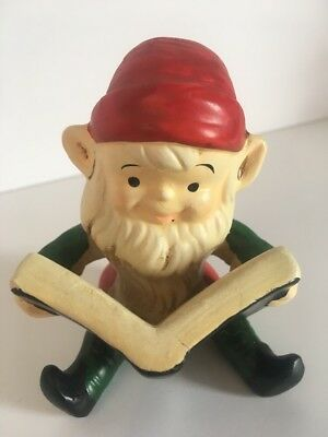 Vtg Homco Christmas Elf Book Santa Helper Figurine Decoration Replacement 5205