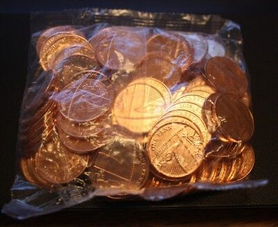 Sealed Bag of 100 Uncirculated UK 2016 1p Coins