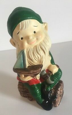 Vtg Homco Christmas Elf Boat Santa Helper Figurine Replacement Decoration 5205