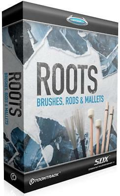 "Toontrack Roots ""Brushes, Rods & Mallets"" SDX - NEU, ORIGINALVERPACKT!"