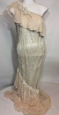 VTG Lorrie Kabala Collectable Women Size 4 Victorian Wedding Gown Lace Dress