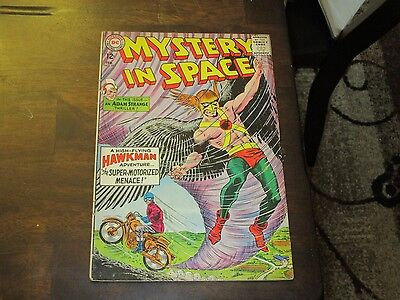 Mystery In Space #89 Dc Silver Age Mid Grade Adam Strange Hawkman Stories Nice!!