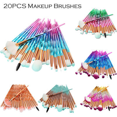 20PCS Eyeshadow Eyeliner Makeup Brushes Set Fan Powder Face Lip Cosmetic Brush