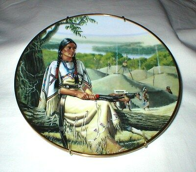Minnehaha NOBLE AMERICAN INDIAN WOMEN by David Wright Hamilton Collection Plate