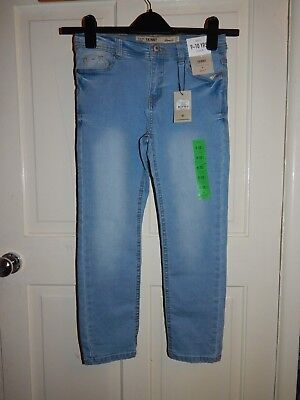 Bnwt Boys Blue Skinny Fit Jeans Size 9-10 Years